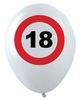 12 Verkehrsschild 18 Latexballons