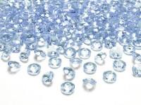 100 Streudeko Diamanten pastellblau 1,2cm