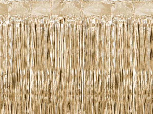 Tinsel curtain gold 2.5mx 90cm