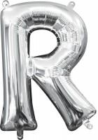 Mini Folienballon Buchstabe R silber 35cm