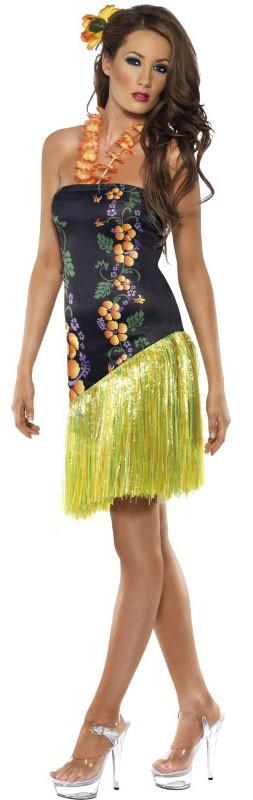Hawaii Kleid Mit Bastrock | Party.de