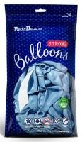 10 Partystar metallic Ballons pastellblau 30cm