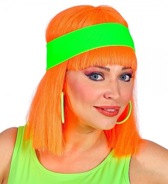 80er Neon Stirnband Kathy grün