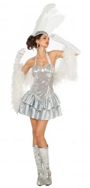Glamour Showgirl Tanja Damenkostüm Silber