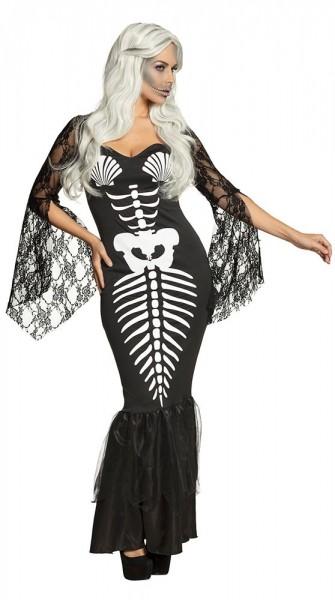 Skelett Meerjungfrau Damenkostüm