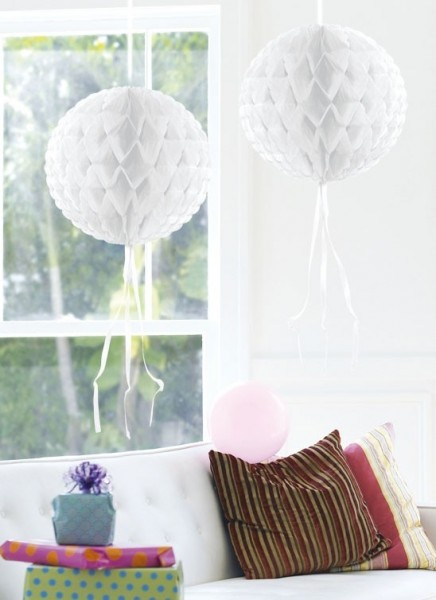 White honeycomb ball Honey 30cm