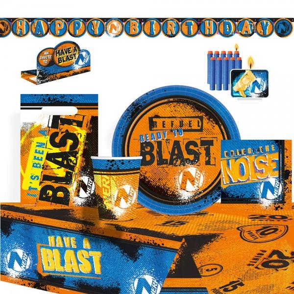 Set de fiesta Nerf Have a Blast 61 piezas
