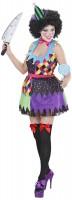 Damen-Kostüm Bunter Killer-Clown