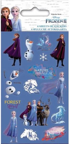 6 Frozen 2 Stickerbögen