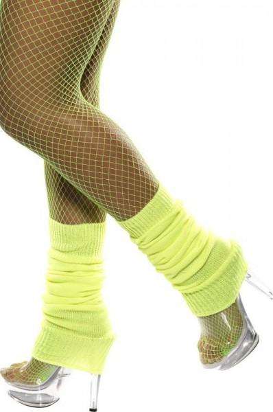 Neon Gelbe Retro Beinstulpen