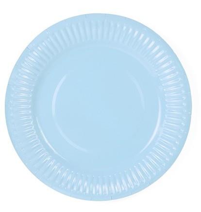 6 piatti di carta Sarah pastello blu 18cm