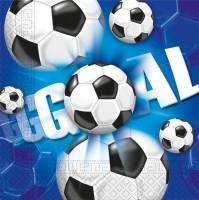 20 Kick & Goal Fußball Servietten 33cm