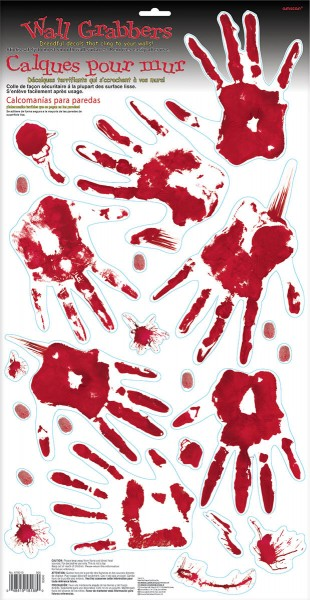 23 Bloody Hell Handabdruck Sticker