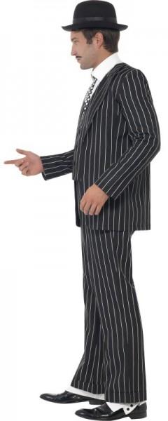 Costume de chef de la mafia à fines rayures
