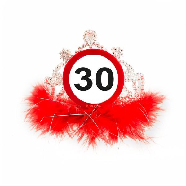 Panneau de signalisation 30 couronne d'anniversaire