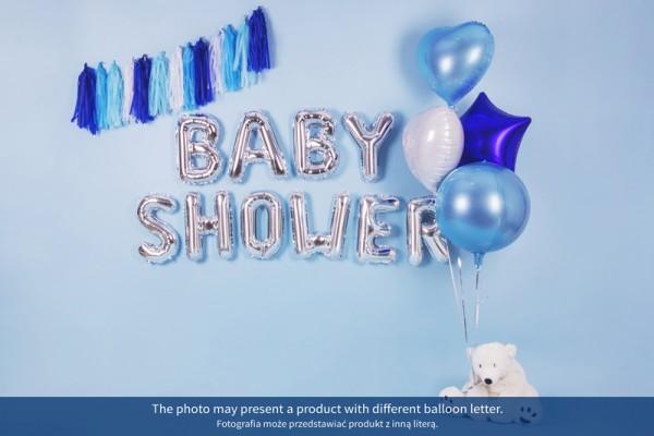 Foil balloon U silver 35cm