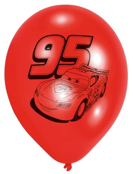 6 Cars Lightning McQueen Luftballons 23 cm