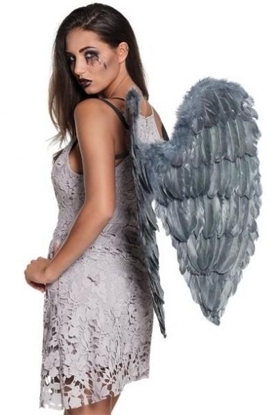 Graue Todesengel Flügel Zuriel 65cm