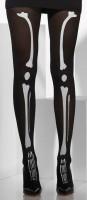 Schwarze Skelett Strumpfhose