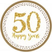 8 Sparkling 50 Years Teller 23cm