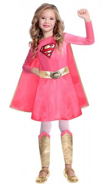 Pink Supergirl Kostüm für Mädchen