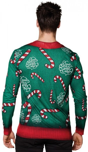 Candy cane love sweater for men