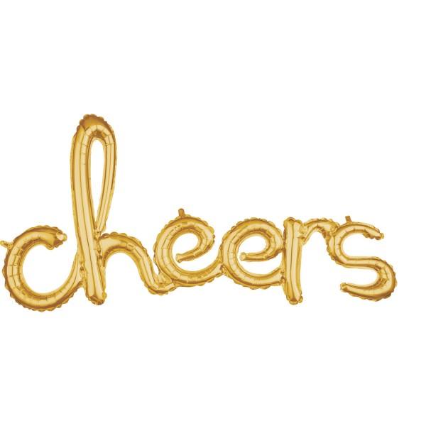 Golden Cheers lettering 1.01mx 53cm