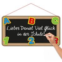 DIY Schulstart Kreideschild