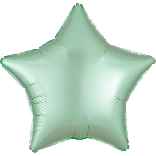 Satin star balloon mint 43cm
