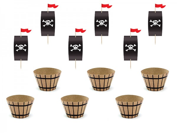 South Sea Pirate Cupcake Set 12 pieces