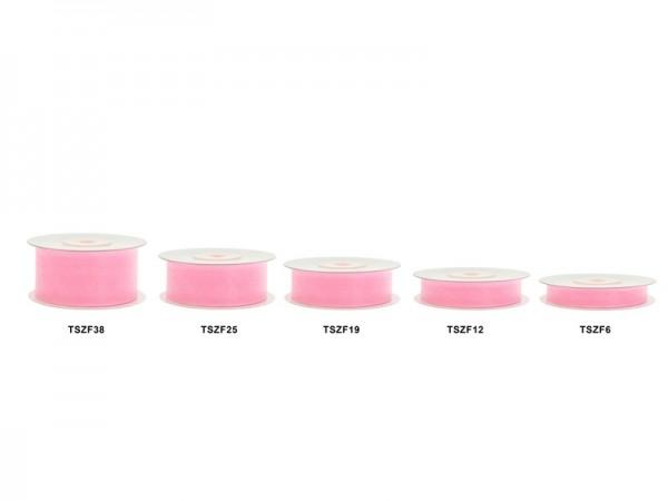 Cinta de regalo de 25 m, aspecto de gasa rosa claro