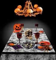 Spinnen Tischdecke Halloween Tischdeko 135x275cm