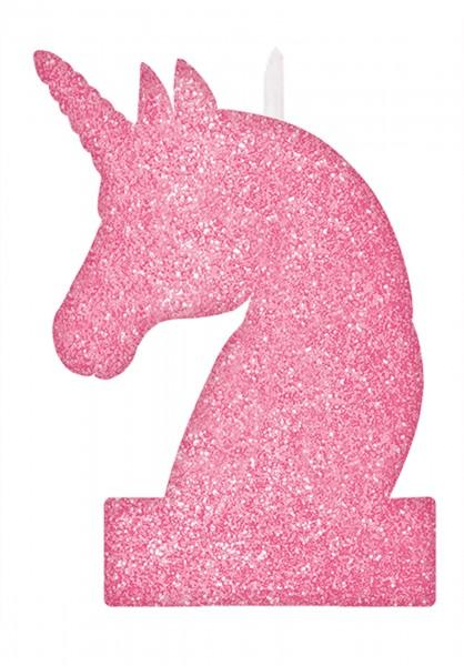 Candela unicorno glitter 13cm