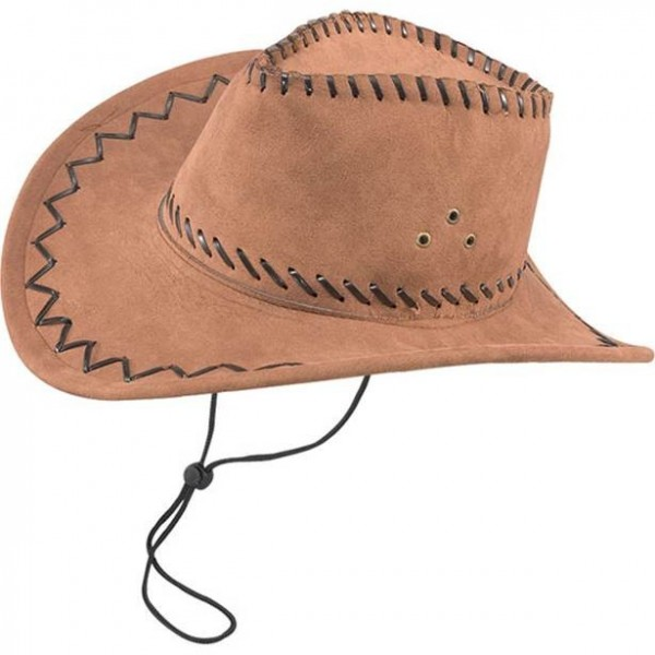Cappello da cowboy in camoscio marrone Joe
