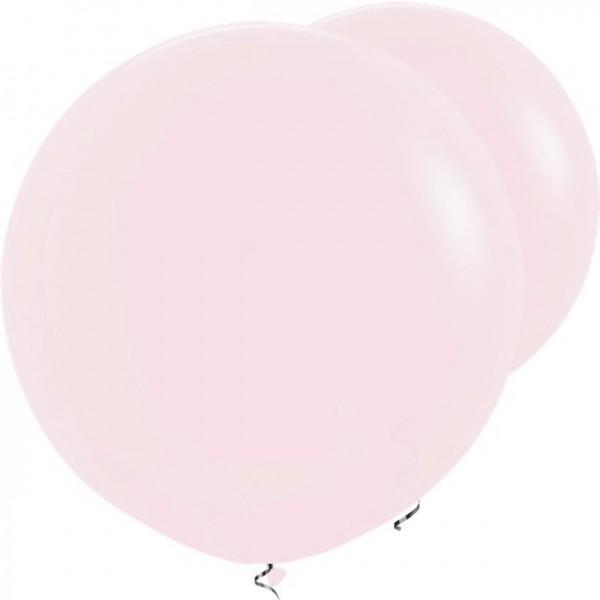 2 ballons XL rose clair 91cm