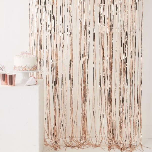 Shimmer Fringe Curtain Rose Gold 2.5m