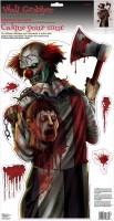 Horrorzirkus Clown Wandbild 52 x 27cm