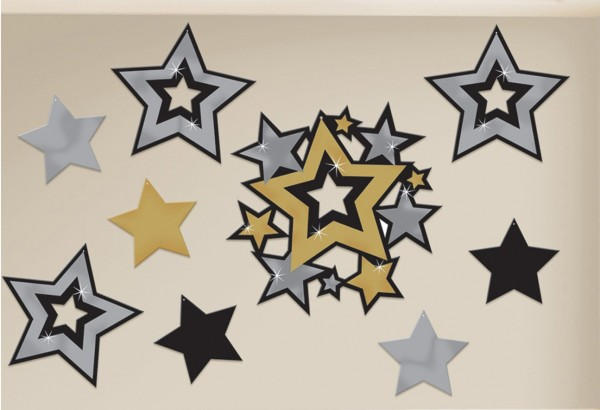 30 Sparkling New Year star murals