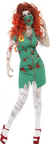 Halloween Kostüm Untote Krankenschwester Grün