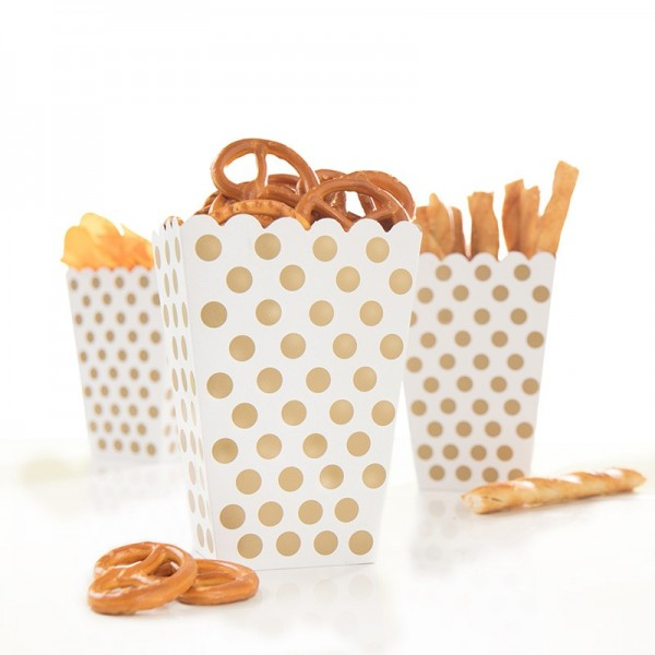 Snack Box Lucy Gold Gepunktet 8 Stück