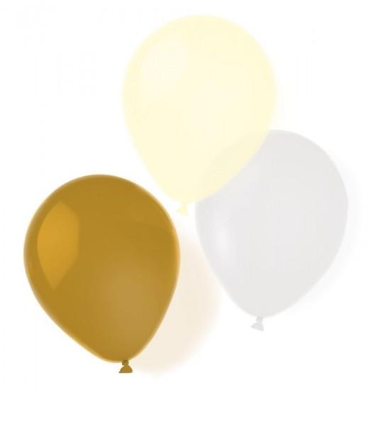 8 Golden Surprise Ballons 25,4cm