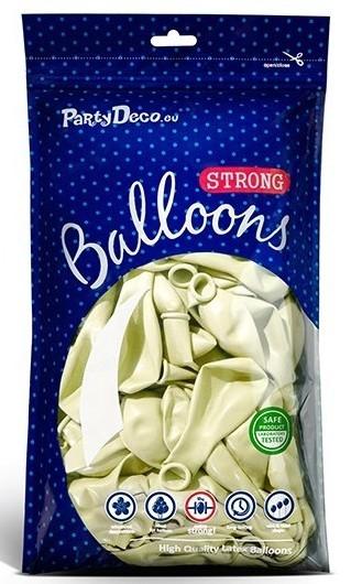 100 Partystar metallic Ballons creme 30cm