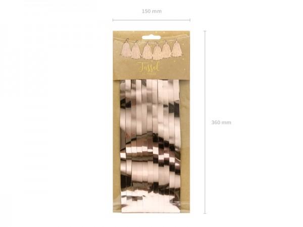 Roségold metallic Tasselgirlande 1,5m 3