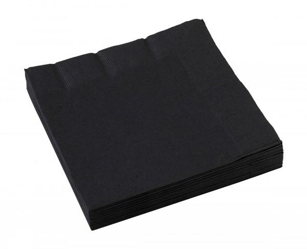 20 serwetek imprezowych 33 cm czarny