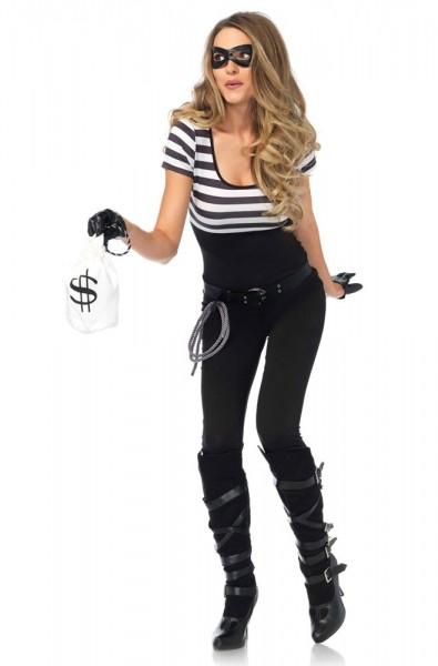 Bankräuberin Kim Premium Kostüm