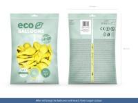 100 Eco Pastell Ballons gelb 30cm