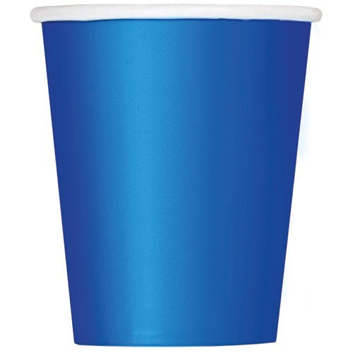 8 Paper Cups Vera Royal Blue 266ml