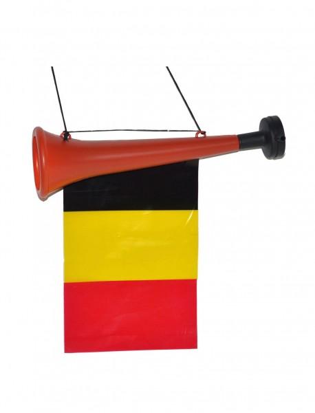 Flet Belgii z flagą