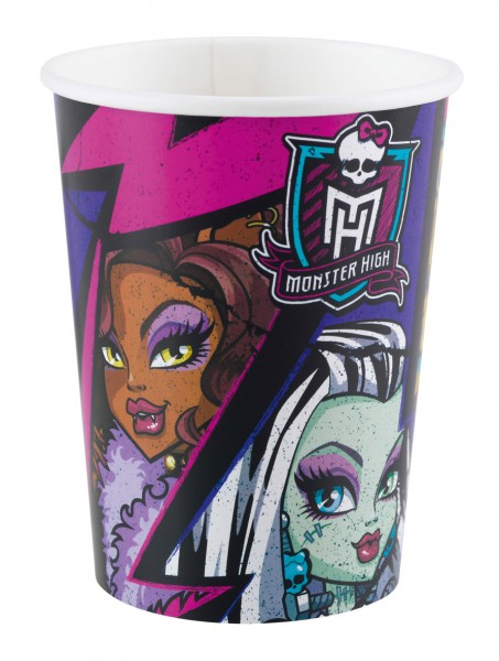 8 Monster High 2 Pappbecher 266ml