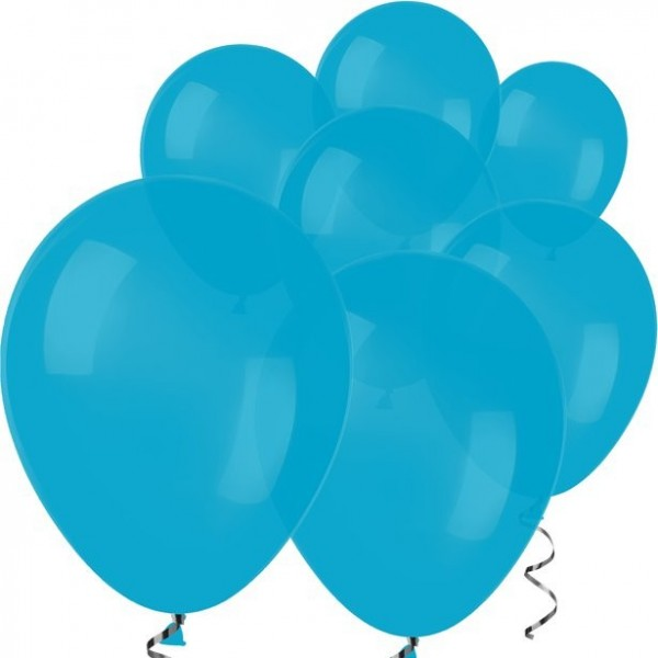 100 mini ballons en latex bleus 13cm